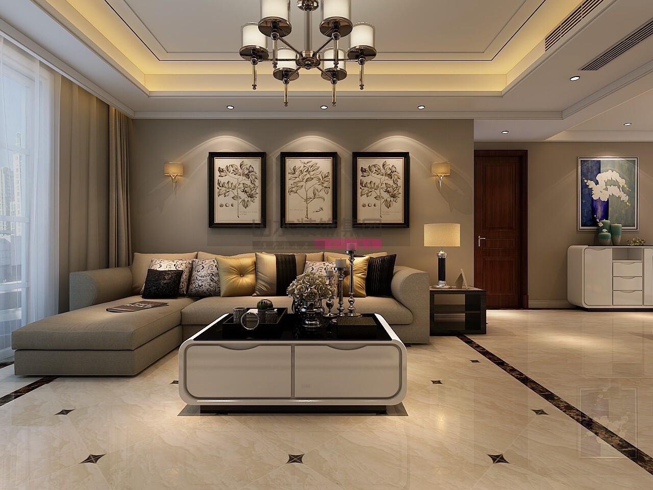 110平米现代三室两厅装修效果图