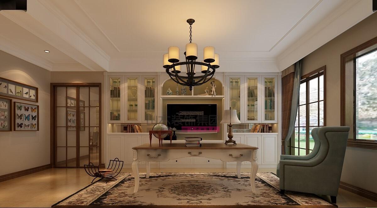 170平方简美风格四室两厅装修效果图