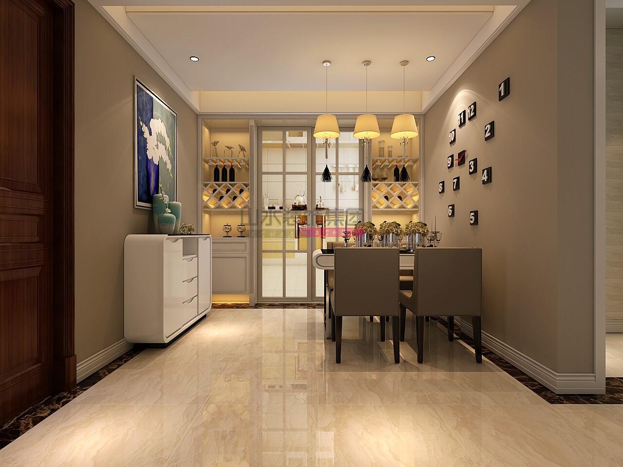 现代风格130平米三室两厅装修效果图