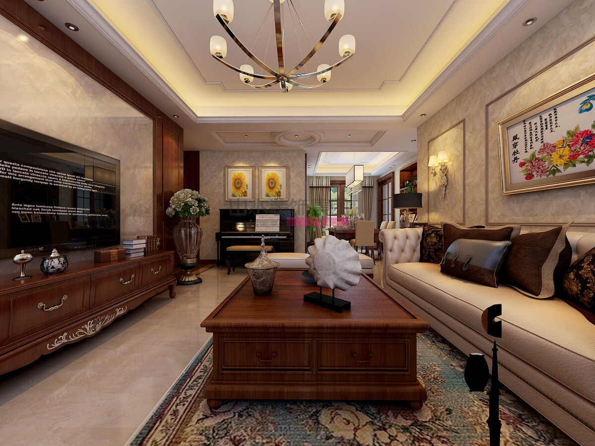 150平简欧风格四室两厅装修效果图