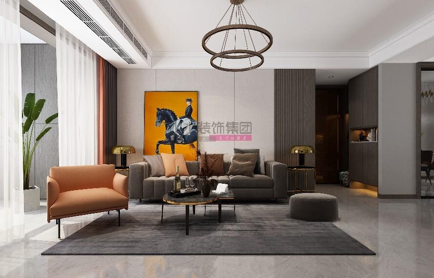 现代装修风格效果图三室两厅