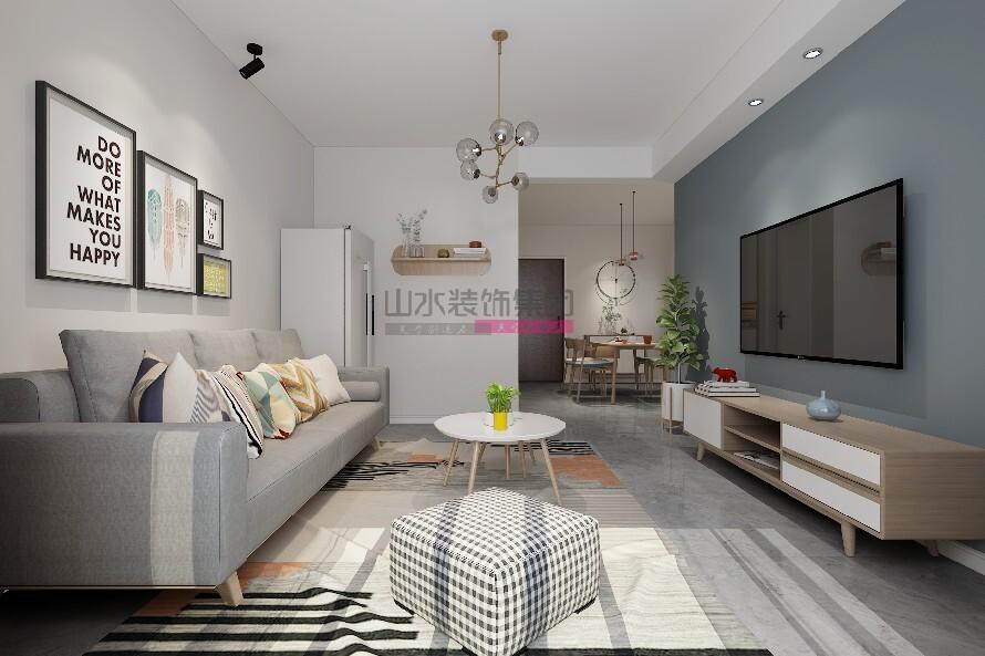 北欧装修风格两居室效果图