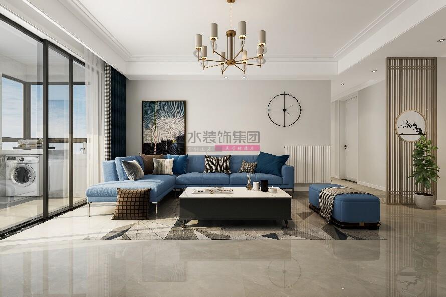 国贸天琴湾三室两厅现代装修风格效果图