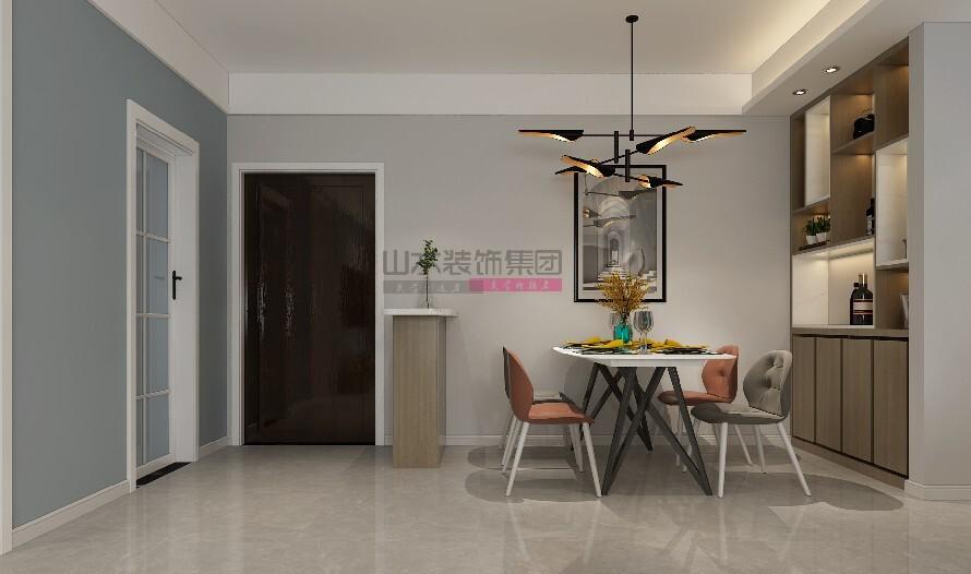 现代装修风格三室两厅效果图
