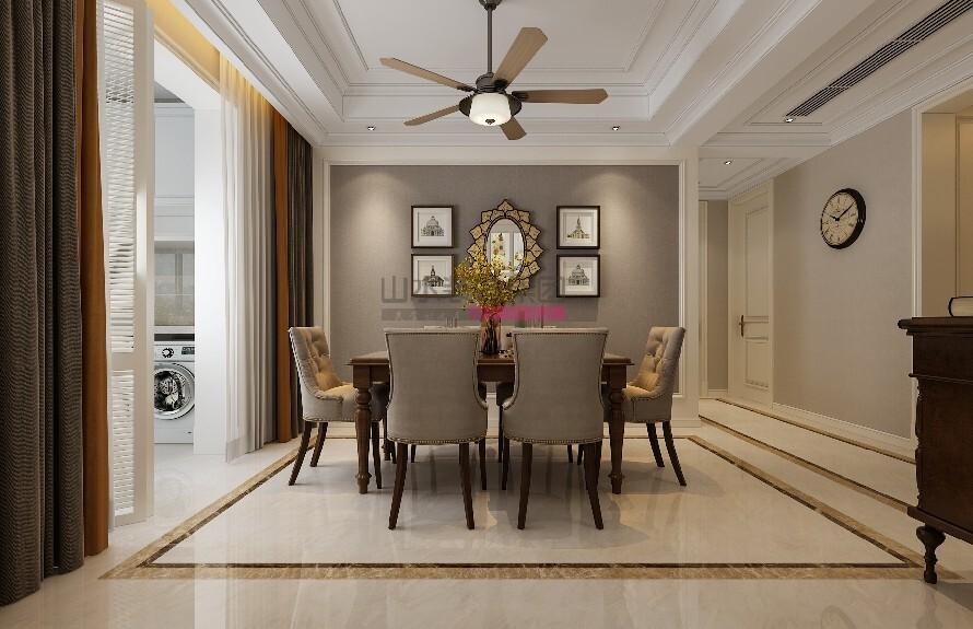 简美风格169平米三室两厅装修效果图