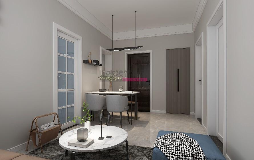 60平米两居室装修效果图