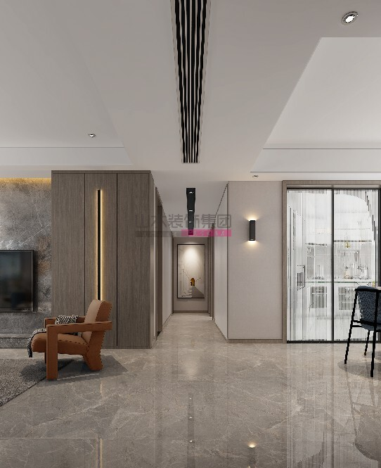 现代装修风格效果图160平米四室两厅