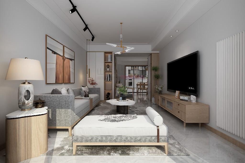 日式装修风格效果图100平米三室两厅
