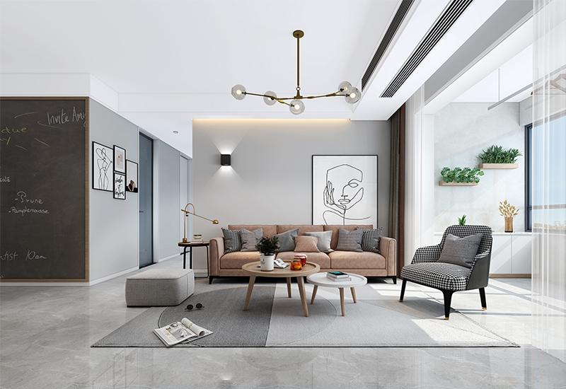<span style='color: #ff0000'>北欧风</span>新房装修设计案例,无主灯设计的卧室太赞了!