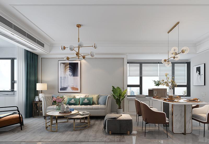 合肥东华府装修设计方案:150平复式轻奢风家居空间