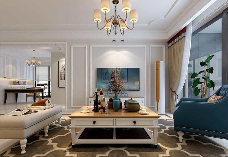 合肥祥源金港湾装修设计方案:120平简美风三室两厅