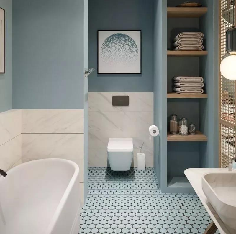卫生间马桶后方怎样做收纳设计?