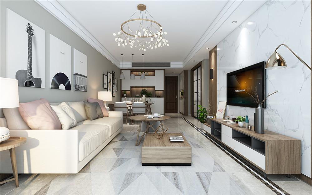 现代简约风格装修客厅电视背景墙选择什么材质更好看?