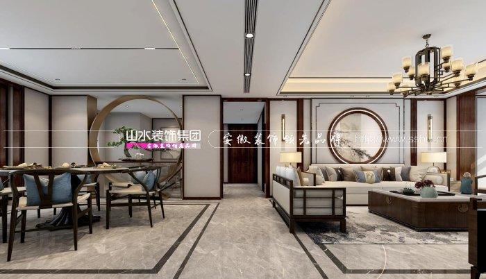 合肥铂悦·庐州府400平方新中式别墅设计