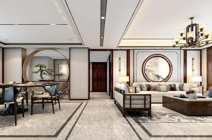 铂悦·庐州府400平方新中式别墅设计 | 东方生活美学韵味悠长