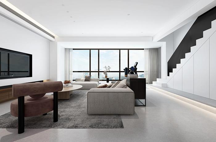 万科森林公园曦园300平新房装修设计 | 现代风复式私宅