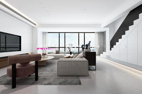 萬科森林公園曦園300平新房裝修設計 | 現代風復式私宅
