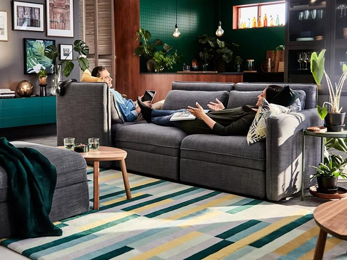 沙发摆放.蚌埠装修公司.山水空间装饰.