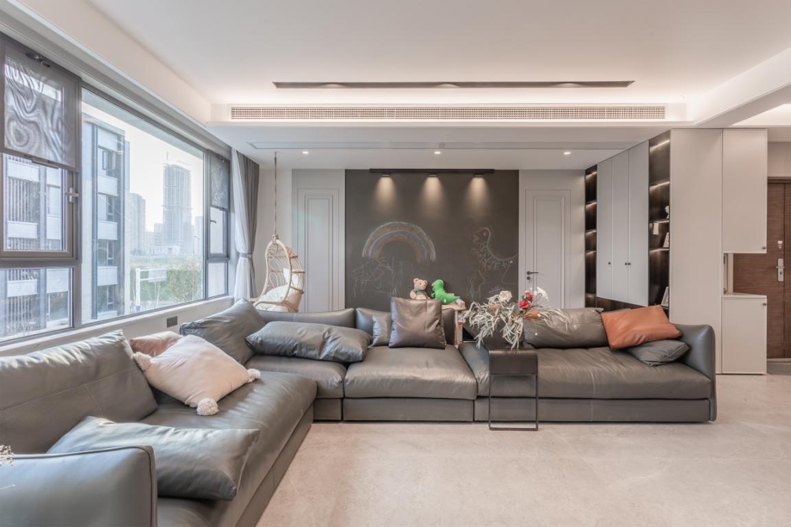 塘溪津门270㎡现代简约家,慵懒舒适的自在空间