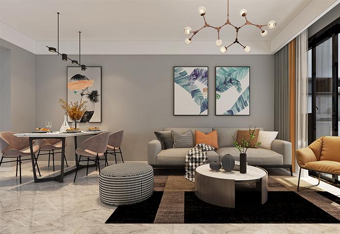 客厅墙面颜色如何选择?掌握这两个技巧选对颜色