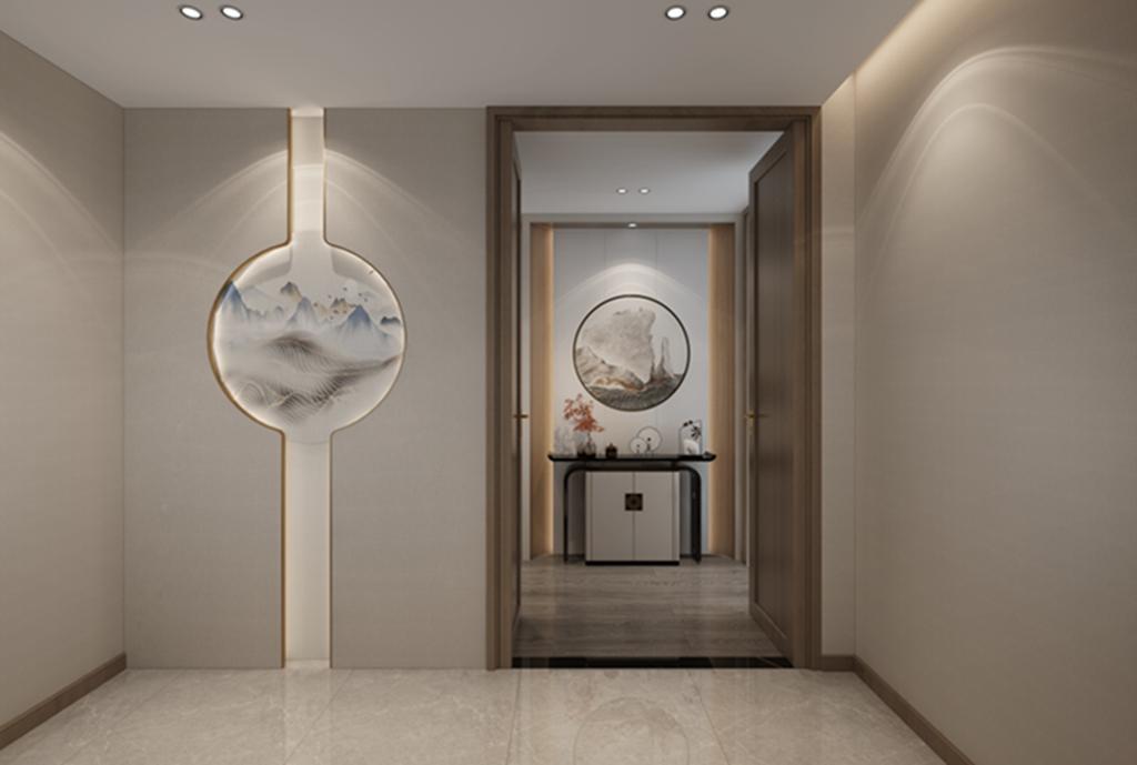 300平米新中式別墅大宅裝修,硬裝和軟裝風格典型