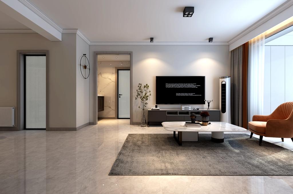新房装修怎么布局更立体?万达文旅城99㎡现代风格案例