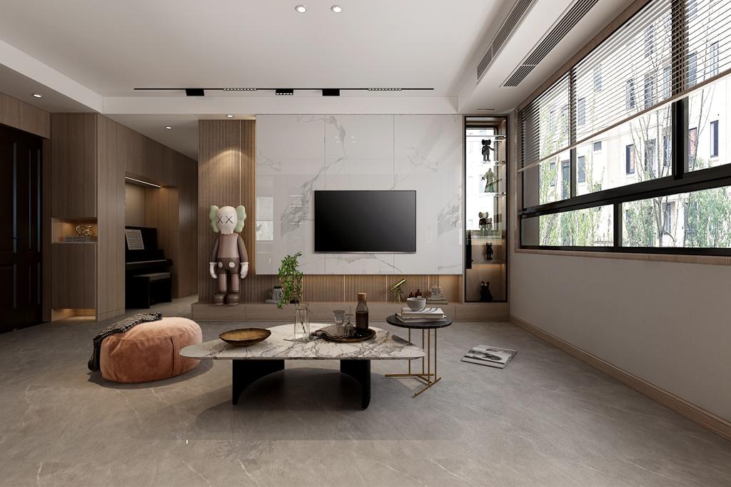 新房怎么装修更温馨舒适?水墨兰庭90㎡<span style='color: #ff0000'>现代风格</span>案例