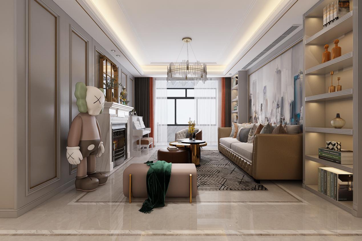 新房装修颜色怎么搭配?美式轻奢风格案例给您答案