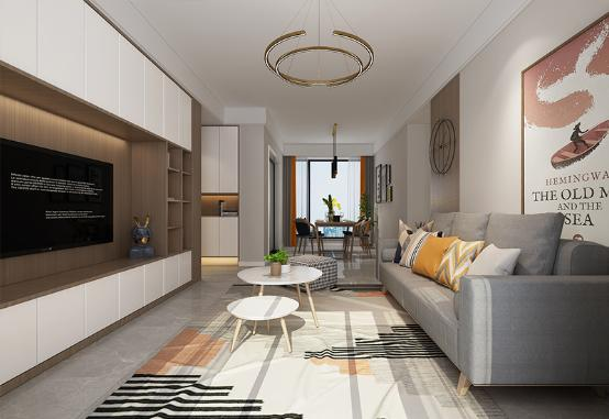 家里的收纳怎么做更实用?97㎡<span style='color: #ff0000'>北欧风</span>格装修设计案例
