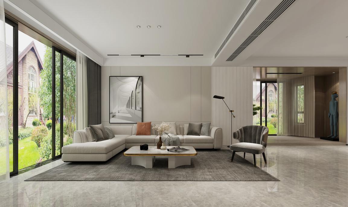 别墅如何装修更舒适好看?400㎡现代风格别墅案例