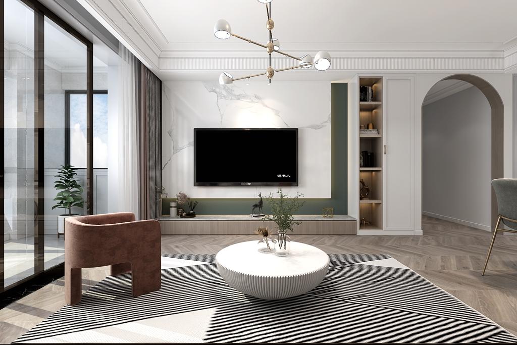 <span style='color: #ff0000'>三室两厅</span>怎么装的时尚有格调?巴黎都市127㎡现代轻奢风案例