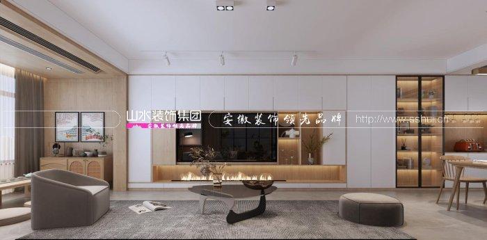 144㎡日式+现代风格装修设计案例