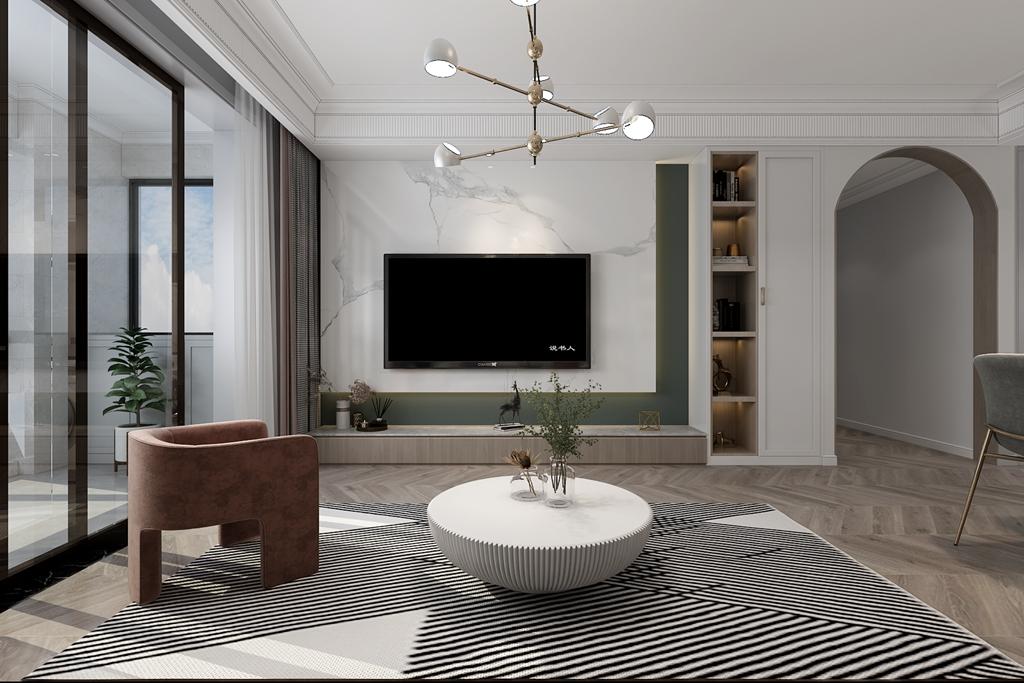 【装修案例】现代三居怎么设计好?巴黎都市127平米案例解析