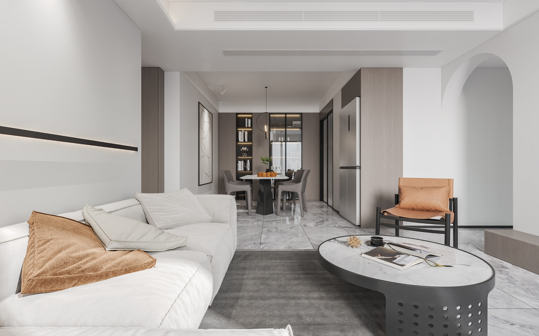 至简空间,130㎡<span style='color: #ff0000'>现代风格</span>三居室,教你如何打造简约空间