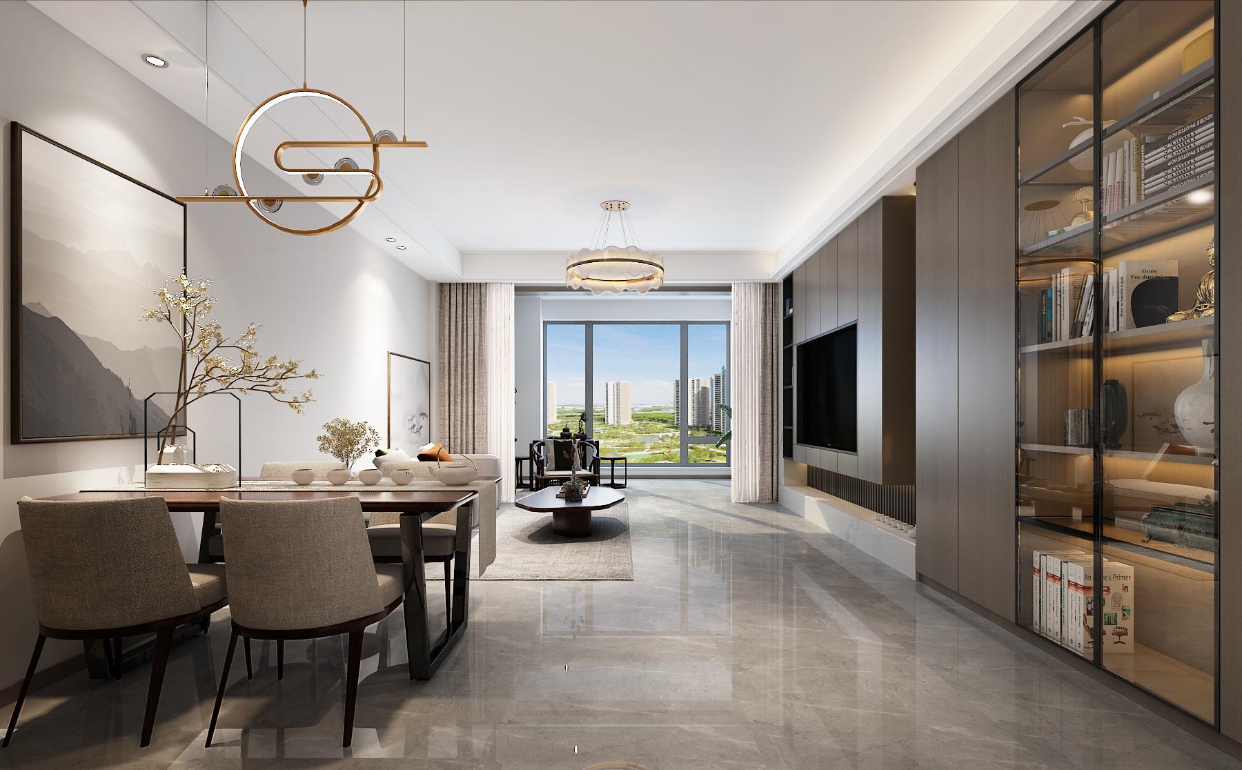 140㎡新中式风格生活空间,收纳功能太强大了,新家可以照着装
