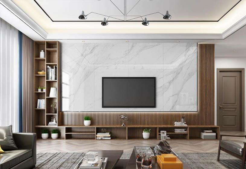 爸妈装的<span style='color: #ff0000'>电视背景墙</span>太老土了?现在都流行这样设计了,拯救土味客厅