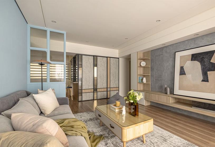 你家<span style='color: #ff0000'>客厅</span>还是沙发茶几电视?现在都流行这种设计了,娱乐生活样样兼顾