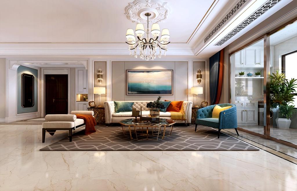 老房改造怎么设计出更多空间?155平米轻奢欧式风格<span style='color: #ff0000'>装修</span>