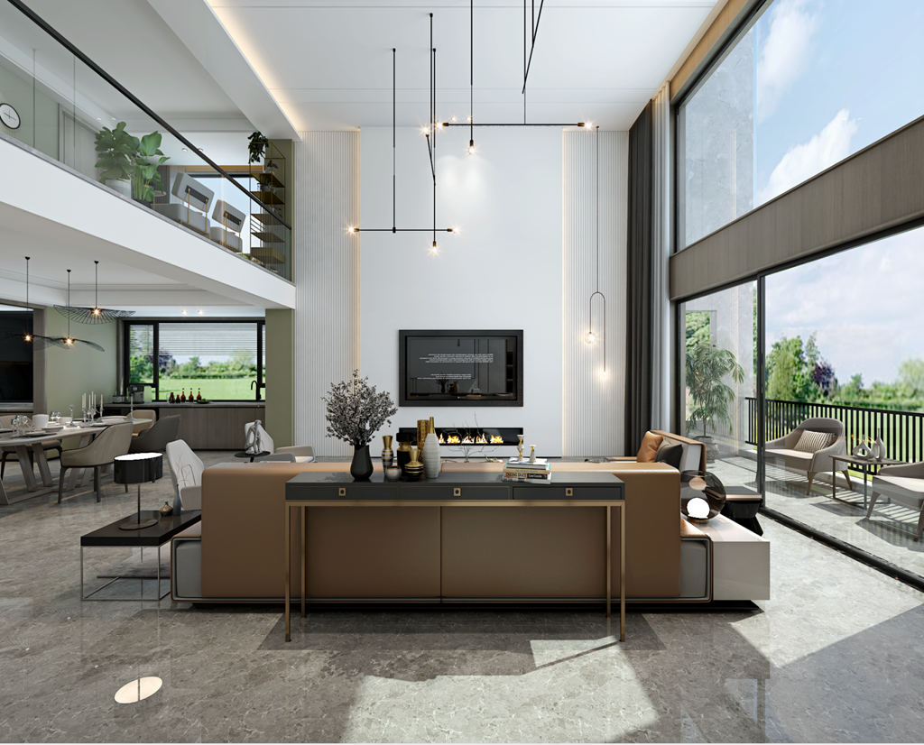 复式住宅怎么设计最好?国耀一方城200平米现代风格案例