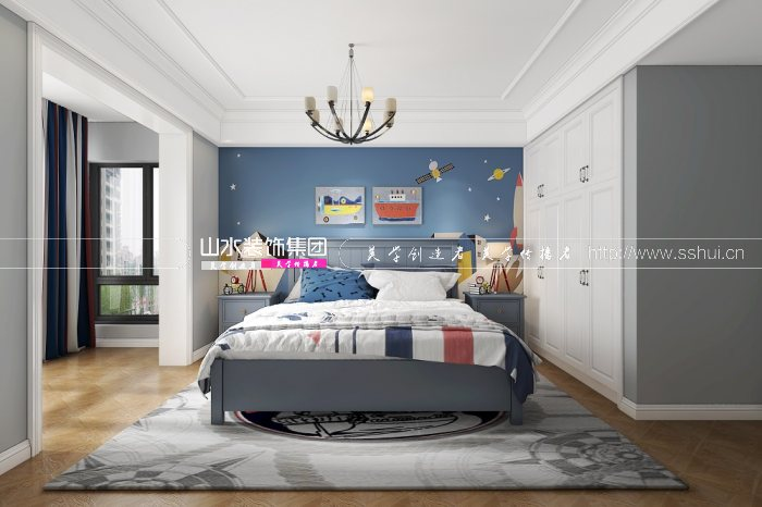 保利西山林语360㎡美式风格装修设计