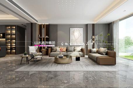 滨湖双玺400㎡现代风格复式新房装修设计案例